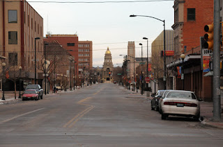 Capital Avenue viewed from Cheyenne Depot