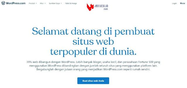 Cara Buat Blog di WordPress, Pilih buat situs web