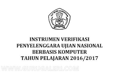 Instrument Verifikasi Penyelenggara Ujian Nasional Berbasis Komputer 2016/2017