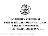 Surat Pernyataan Kesiapan Mengikuti UNBK serta Instrument Verifikasi UNBK Tahun Ajar 2016/2017