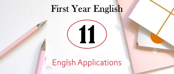 English Applications For First Year PDF Download