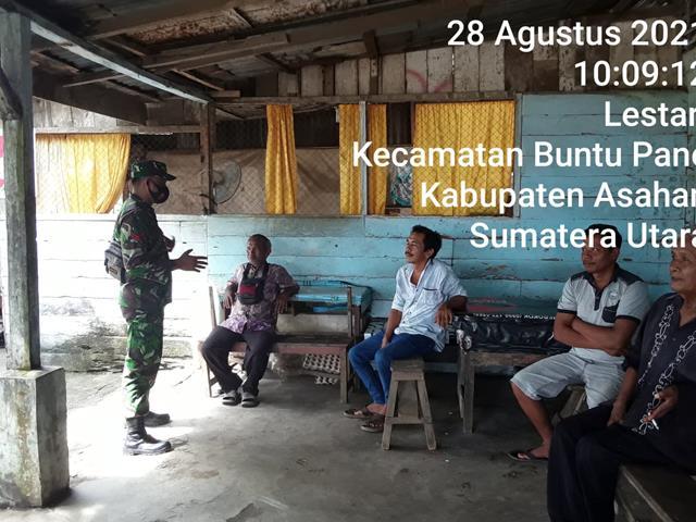 Bersama Dengan Kadus, Personel Jajaran Kodim 0208/Asahan Jalin Silaturahmi Diwilayah Binaan