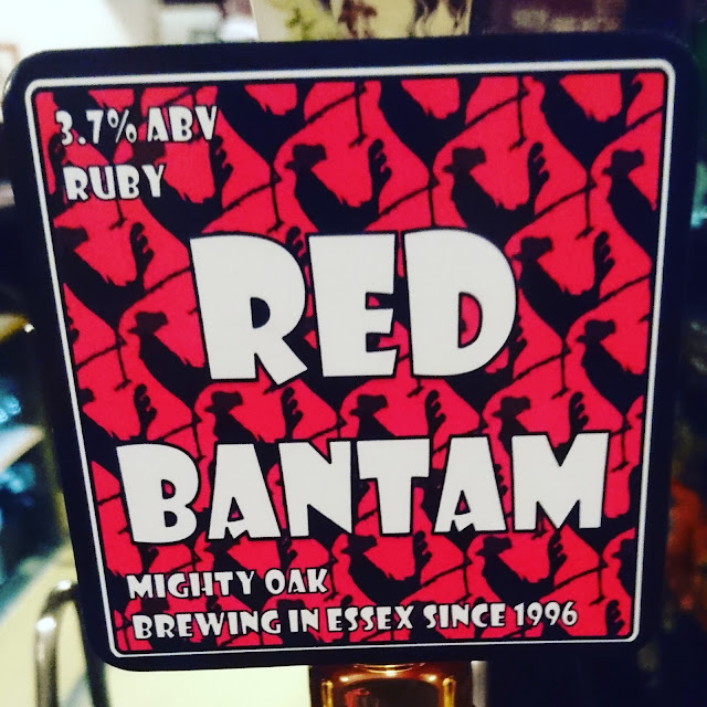 Essex Craft Beer Review: Red Bantam from Mighty Oak real ale pump clip