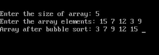 Write a c program using bubble sort