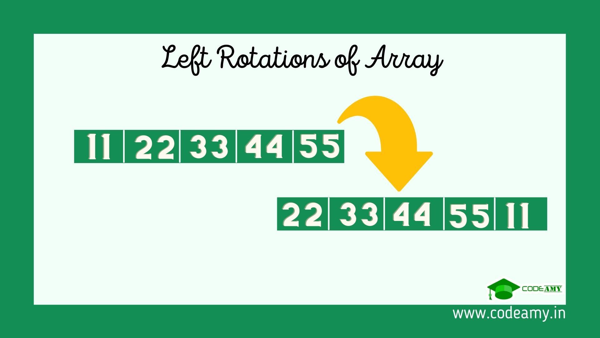 left rotate array