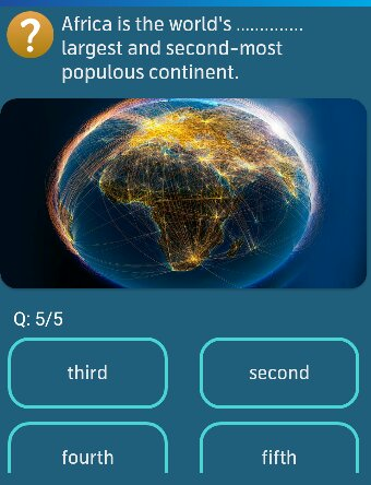 Africa is the world's ----- largest and second-most populous continent?