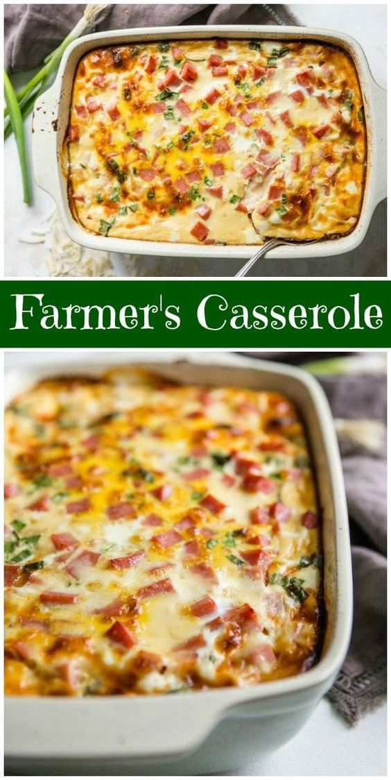 FARMER'S CASSEROLE #recipes #healthybreakfast #breakfastrecipes #healthybreakfastrecipes #food #foodporn #healthy #yummy #instafood #foodie #delicious #dinner #breakfast #dessert #lunch #vegan #cake #eatclean #homemade #diet #healthyfood #cleaneating #foodstagram