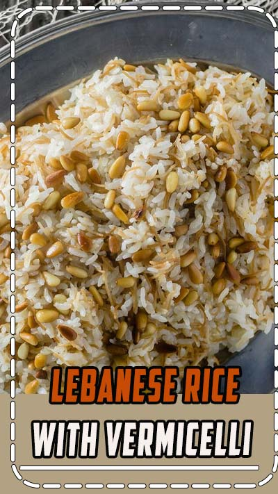 Easy Lebanese Rice | The Mediterranean Dish. Lebanese rice with olive oil, toasted vermicelli and pine nuts. A great vegan side dish to go with many dinners! Recipe and video on TheMediterraneanDish.com #rice #Mediterraneanfood #Lebaneserecipes #Middleeasternrecipes #Mediterraneanrecipes #vegan #ricepilaf