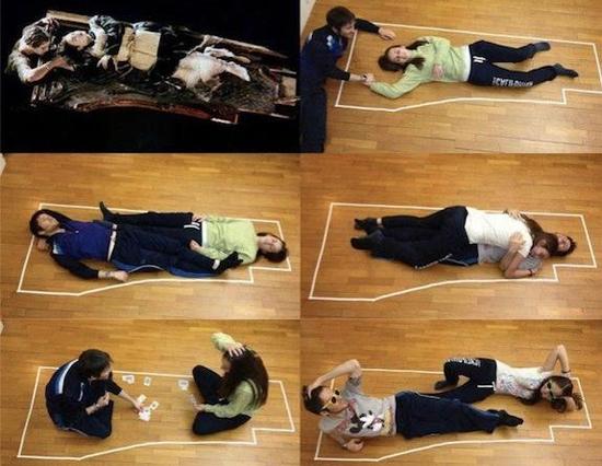 Titanic - Cena Jack Rose porta madeira boiando agua simulacao