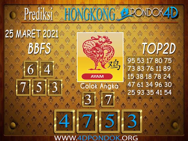 Prediksi Togel HONGKONG PONDOK4D 25 MARET 2021