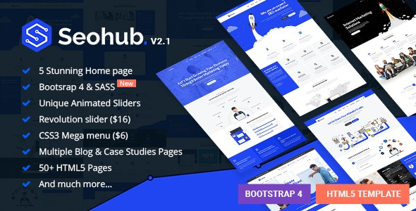 SEOhub Multipurpose HTML5 Website Templates