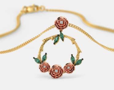 Model liontin emas bunga