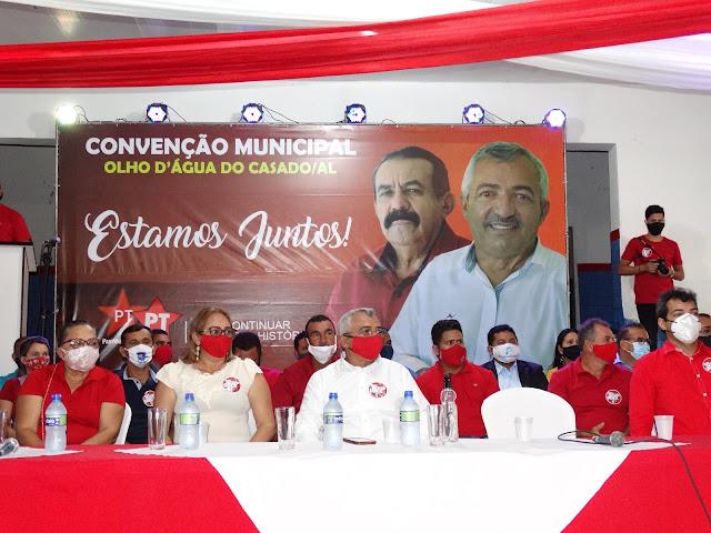 Convenção do PT oficializa candidaturas  à reeleição de  Zé da Emater e Marcos Vieira  em  Olho D'Água do Casado