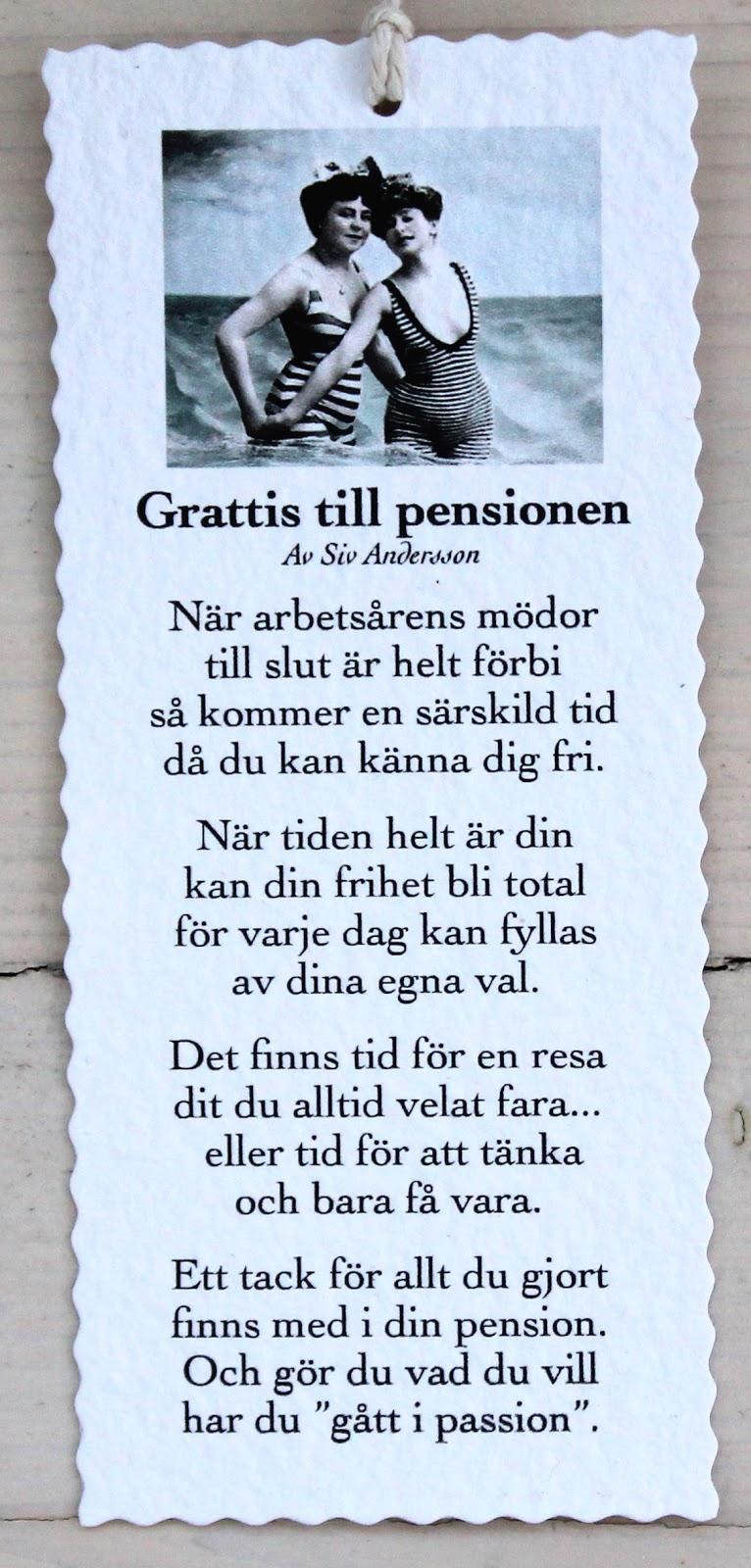 grattis till pensionen dikt Annas idéer bloggbutik grattis till pensionen dikt