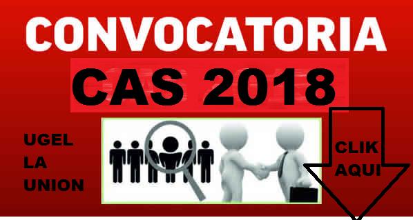 CONVOCATORIA  CAS