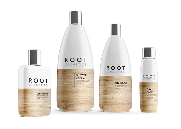 root cosmetics packaging of