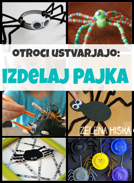 ustvarjalne dejavnosti za otroke - pajek