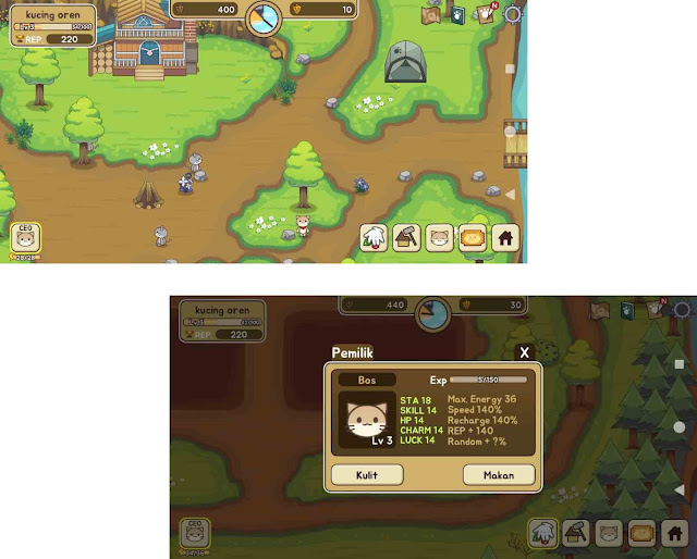 rincian game cat forest
