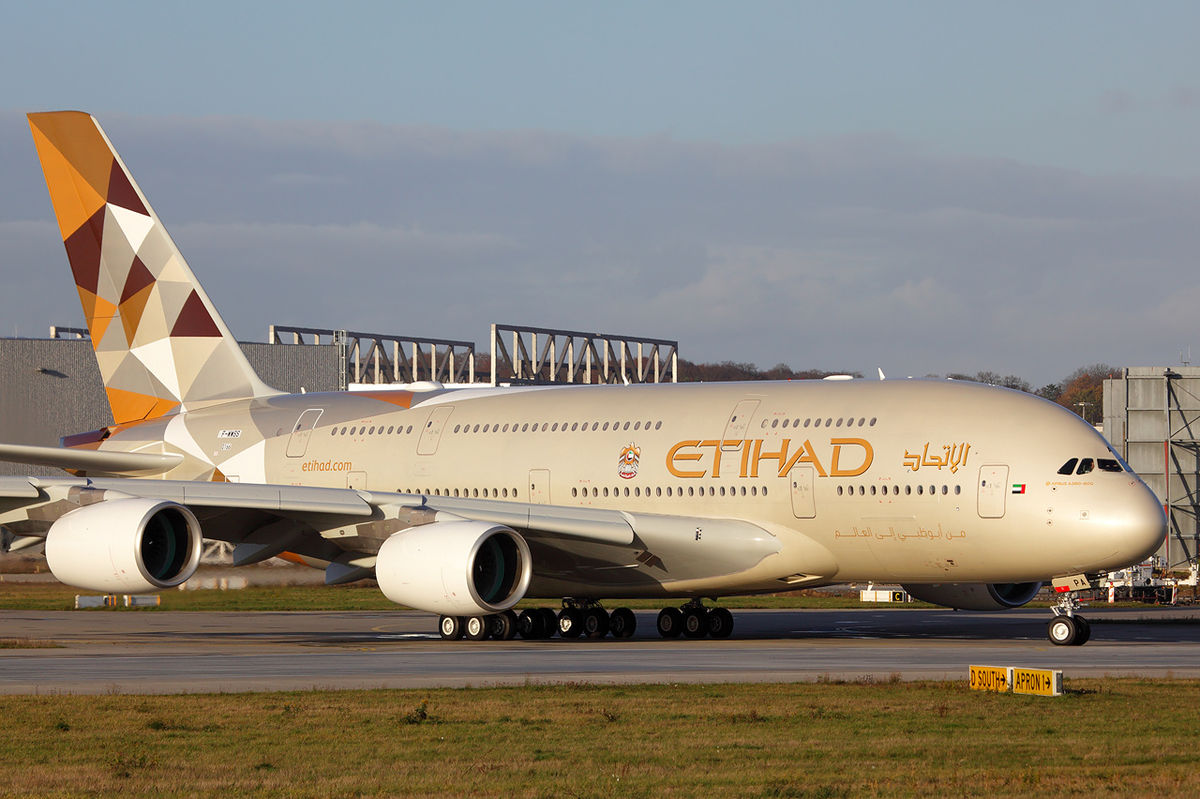 Etihad A380 exterior
