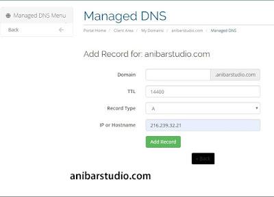 Cara mudah dan lengkap menggunakan DNS Management di RumahWeb - TERBARU | anibarstudio.com