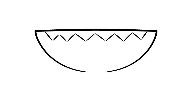 Anime gambar mulut terbuka gigi tajam