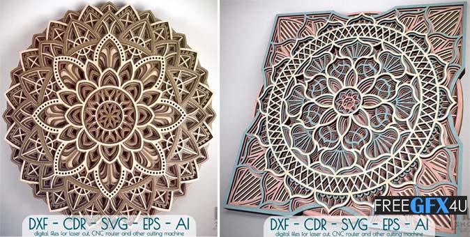 Mandala Pattern Laser Cut