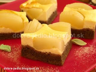 Hruškový koláč s tvarohom - recepty