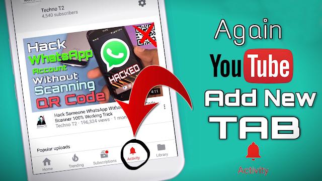 Download YouTube v12.42.59 APK File & Get New Activity Tab