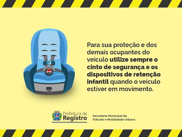 Agosto: Mês de conscientização do uso do cinto de segurança e dispositivo de retenção infantil