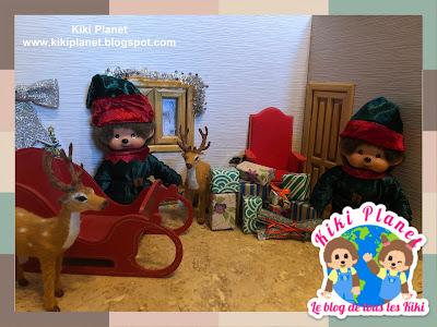 kiki monchhichi rennes traineau Santa Claus père noël sleigh