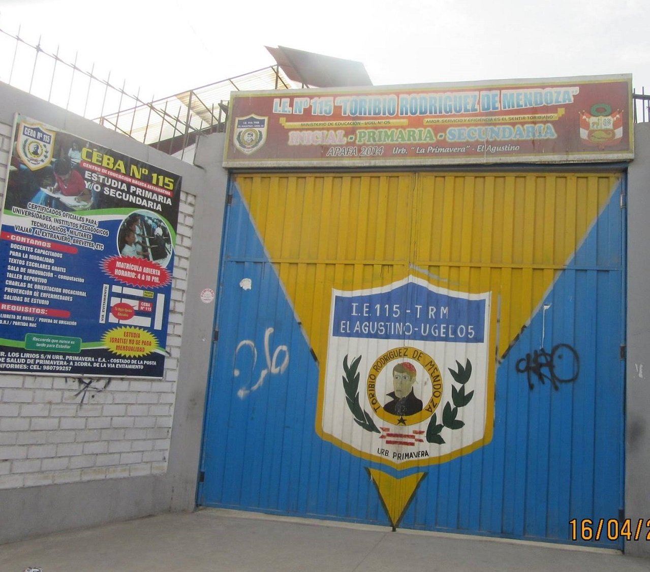 Colegio 115 TORIBIO RODRIGUEZ DE MENDOZA - El Agustino
