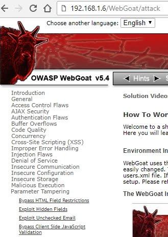 Whitelist: OWASP WebGoat: Exploit Unchecked Email