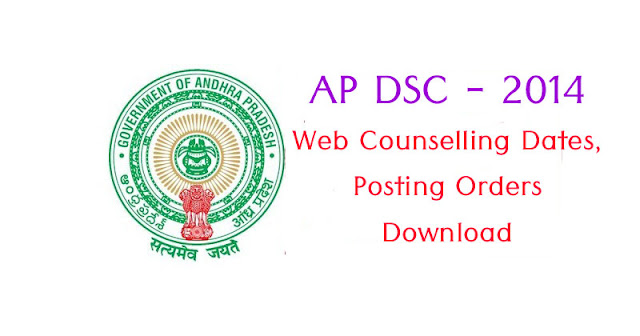AP DSC 2014 Counselling, Posting Orders Download