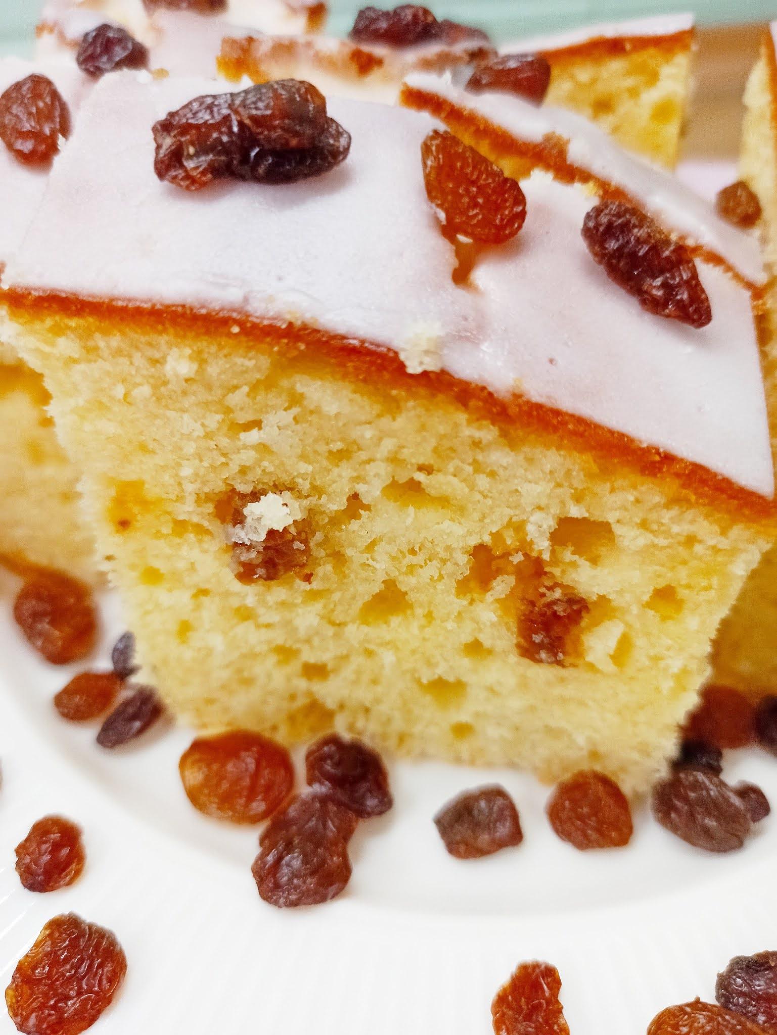 Ciasto serowo-cytrynowe z rodzynkami