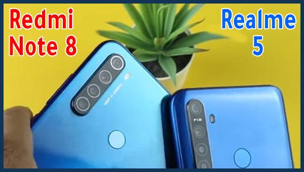 مقارنة بين Realme 5 و Xiaomi Note 8 – من هو أفضل هاتف في حدود 1900 درهم ؟