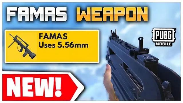 تعرف على FAMAS بندقية هجومية جديدة في ببجي موبايل والتحديثات القادمة