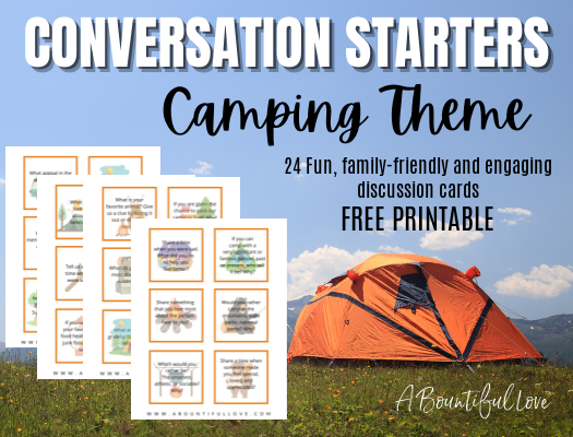 Camping Activity: Conversation Cards