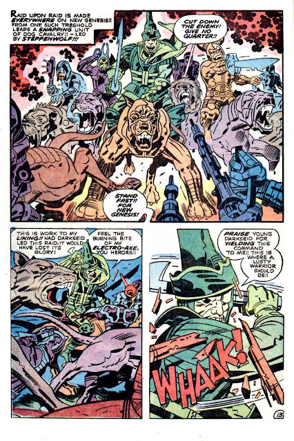 New Gods v1 #7 dc bronze age comic book page art by Jack Kirby
