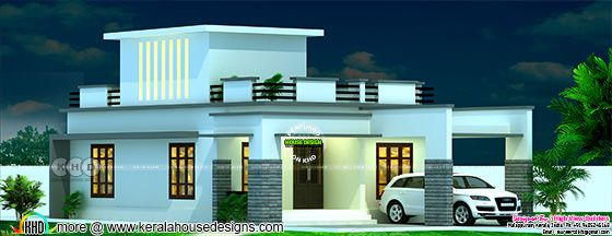 925 square feet single floor flat roof home