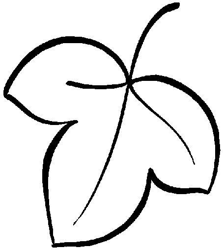 Hình tô màu chiếc lá