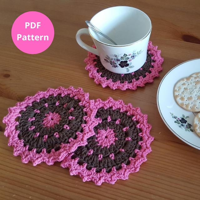 Splash of color crochet coasters pattern