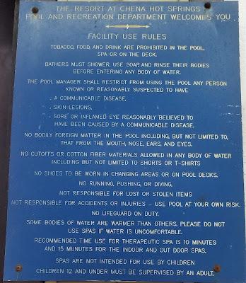 Facility Rules at Chena Hot Springs Resort