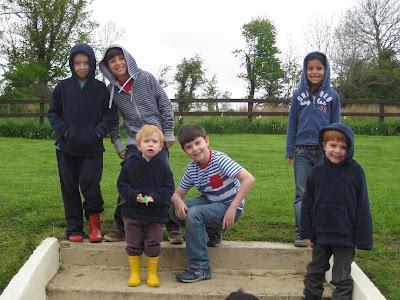 six kids posing in Ireland