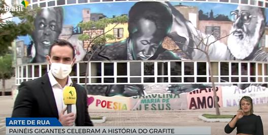 Painéis gigantes em São Paulo celebram a história do grafite