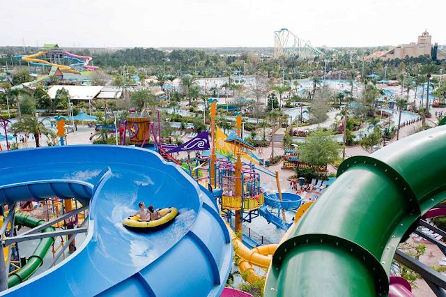 Atrações e brinquedos do Parque Aquatica