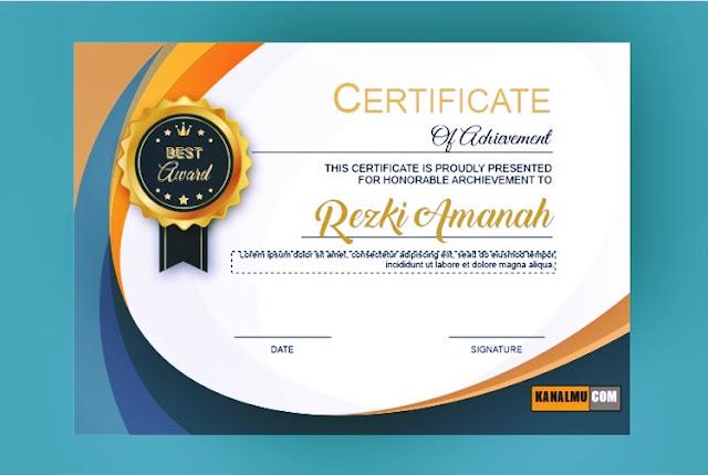 Desain sertifikat & piagam cdr untuk perusahaan besar