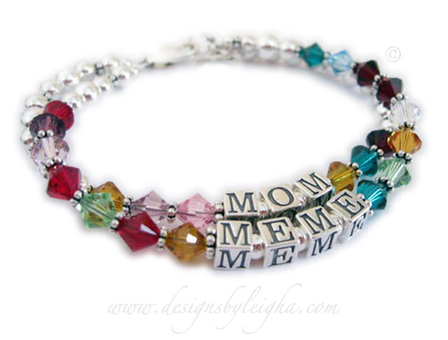 Mom and Meme Birthstone Bracelet - Great Mothers Day Gift Ideas! #mothersday