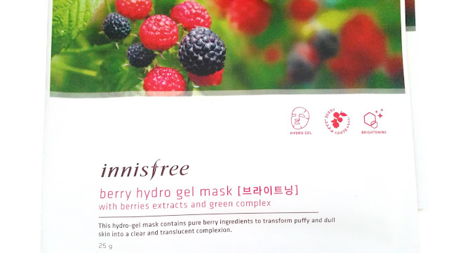 Innisfree Berry Hydro Gel Mask Review