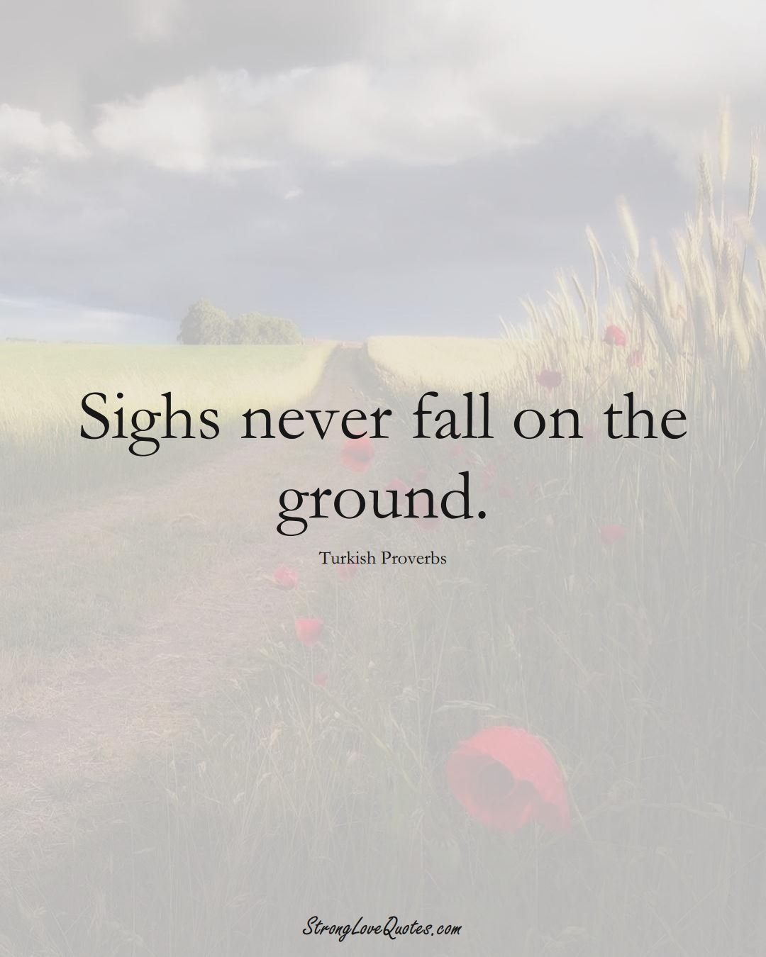 Sighs never fall on the ground. (Turkish Sayings);  #MiddleEasternSayings
