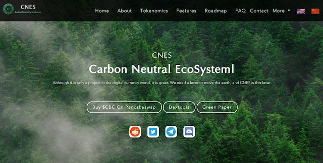Screenshot Gambar Website Carbon Coin (CBC)